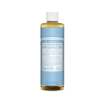 [018787762165] Dr. Bronner's Soap Baby Unscented Liquid 16oz