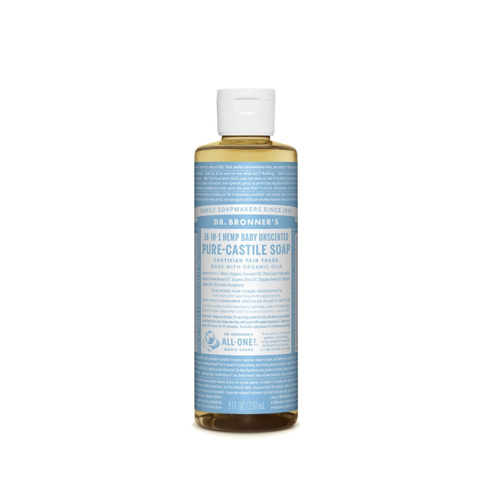 Dr. Bronner's Soap Baby Unscented Liquid 8oz