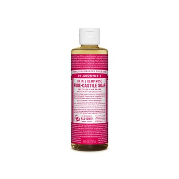 [018787778081] Dr. Bronner's Soap Rose Liq 8oz