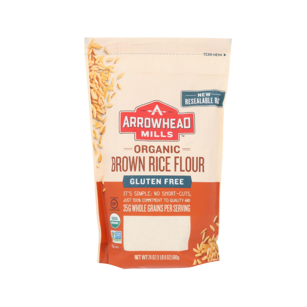 Arrowhead Mills Flour Rice Brown GF OG 24oz