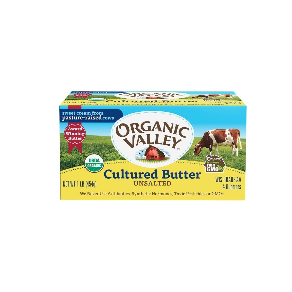 Organic Valley Cultured Butter Unsalted OG 1lb