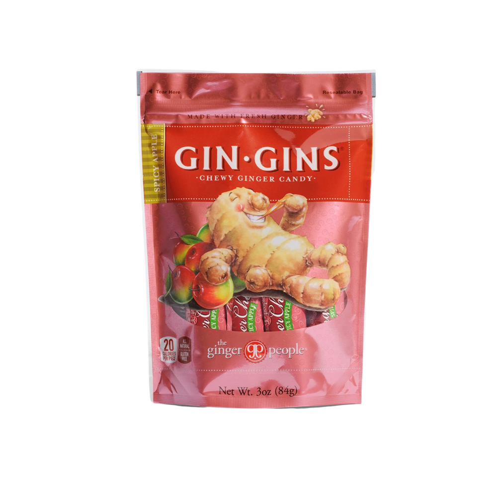 Gin-Gins Chews Apple Spicy 3oz