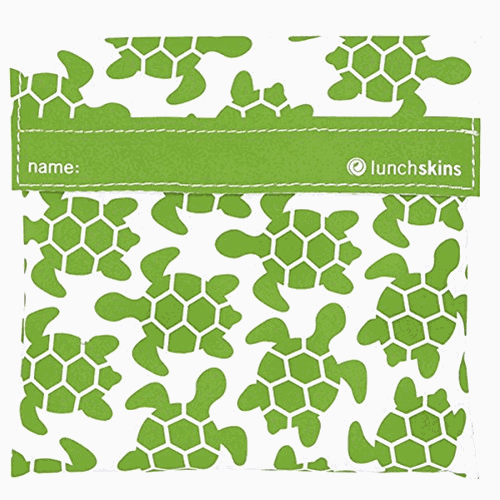 Lunchskins Bag Sandwich Green Turtle 1c