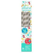 Preserve Straws Compostable Natural 50c