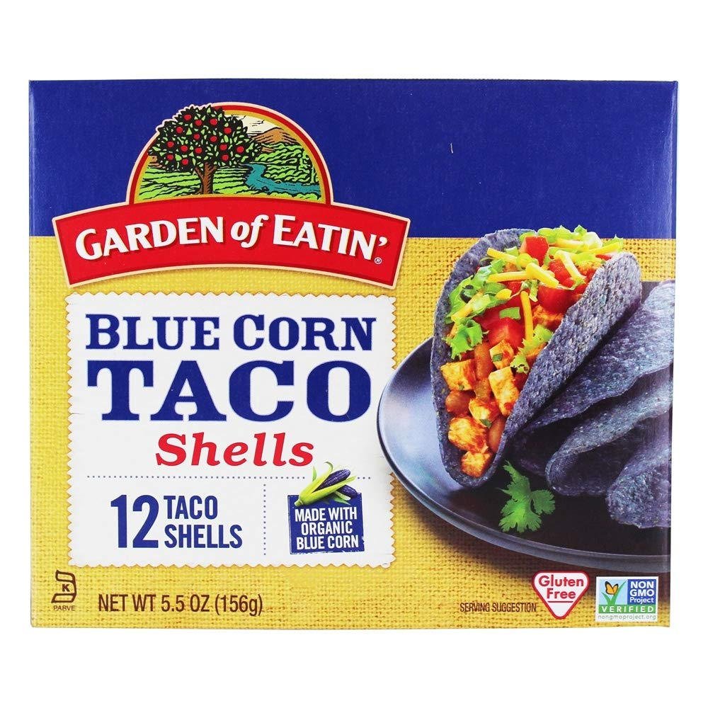 Garden of Eatin' Taco Shell Corn Blue 12c
