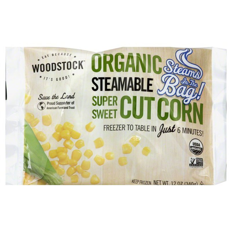Woodstock Frozen Corn Steamable OG 12oz