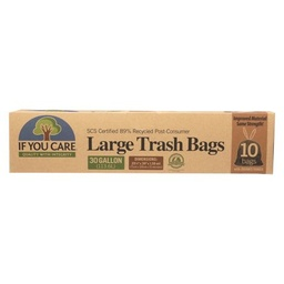 [770009250637] If You Care Trash Bag Recycled 30gal 10c