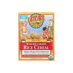 [023923900011] Earth's Best Cereal Baby Rice Whole Grain OG