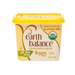 [033776011710] Earth Balance Butter Spread Whipped OG 13oz