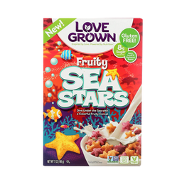 [850563002733] Love Grown Cereal Fruity Sea Stars 9.5oz