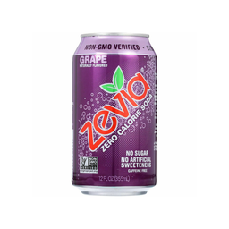 [894773001193] Zevia Soda Diet Grape 12oz