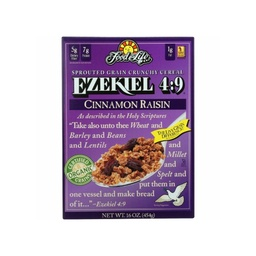 [073472002575] Food For Life Granola Ezekiel Raisin Cn Og 16oz