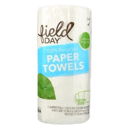 [042563600426] FIELDY Paper Towels Recycle 120c 1pack