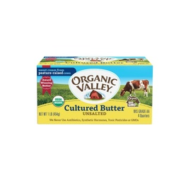[093966130003] Organic Valley Cultured Butter Unsalted OG 1lb