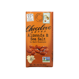 [716270001554] CHOCLV Dark Choco Almond Salt 55% 3.2oz