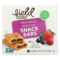 [042563600648] Field Day Bar Cereal Mixed Berry 6c