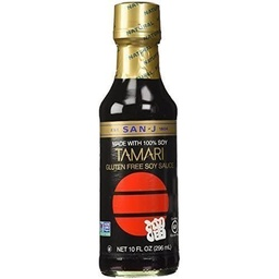 [075810021255] San-J Sauce Tamari Black Label GF 10oz