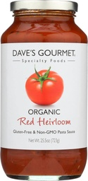 [753469010027] Dave's Gourmet Pasta Sauce Red Heirloom OG 25.5oz