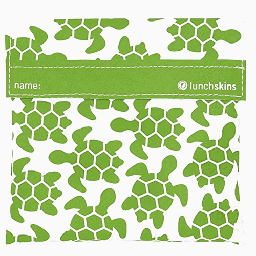 [854735005430] Lunchskins Bag Sandwich Green Turtle 1c
