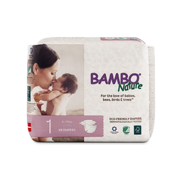 [190509000011] Bamboo Nature Diapers 1 Size 4-11# 28c