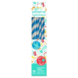 [631740750001] Preserve Straws Compostable Bue 50c