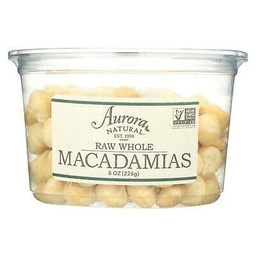 [655852000830] Aurora Nuts Macadamia Whole Raw 8oz+