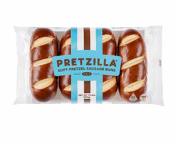 [673316036584] Pretzilla Bread Buns Pretzel Hot Dog 4c